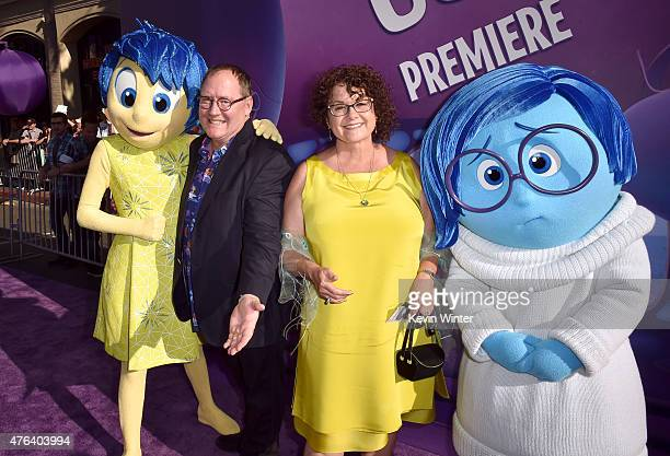 Executive producer John Lasseter and Nancy Lasseter attend the Los Angeles premiere of DisneyPixar's 'Inside Out' at the El Capitan Theatre on June 8...