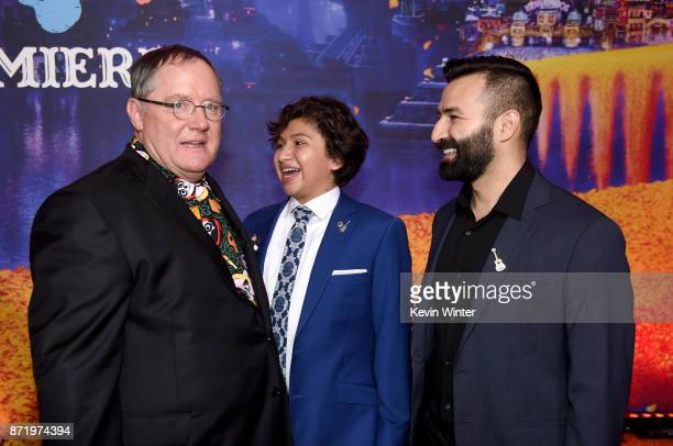 Executive producer John Lasseter chief creative officer of Pixar Animation Walt Disney Animation and DisneyToon Studios actor Anthony Gonzalez and...