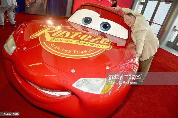 """Executive producer John Lasseter poses at the World Premiere of Disney/Pixar's """"Cars 3' at the Anaheim Convention Center on June 10 2017 in Anaheim..."""