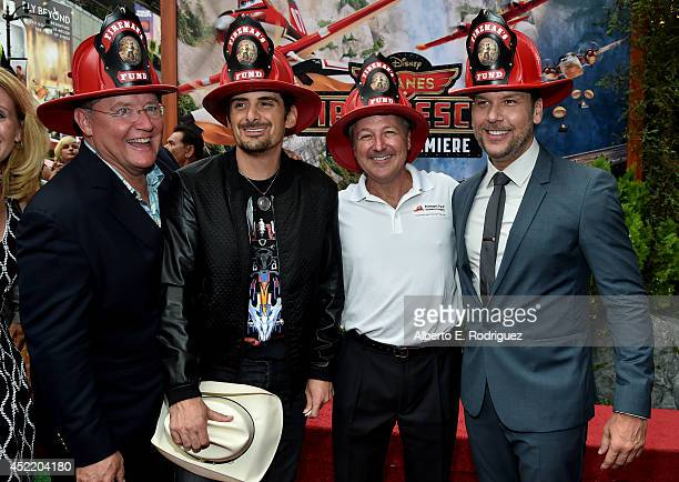 Executive producer John Lasseter singer/songwriter Brad Paisley Marketing at Fireman's Fund Insurance Company Paul Fuegner and actor Dane Cook attend...