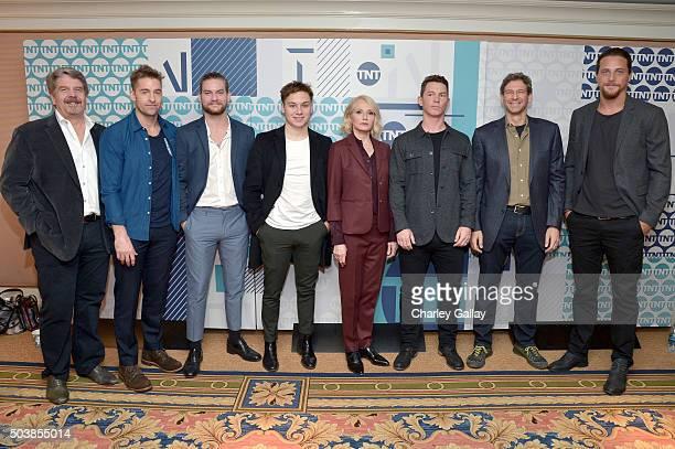 Executive producer John Wells, actors Scott Speedman, Jake Weary, Finn Cole, Ellen Barkin, Shawn Hatosy, executive producer Jonathan Lisco and actor...