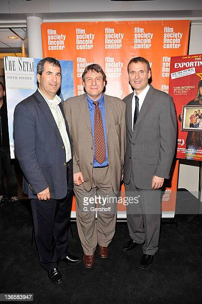 Executive Producer John Woldenberg Program Director for The Film Society of Lincoln Center Richard Pena and Phil Rosenthal attend an after party for...