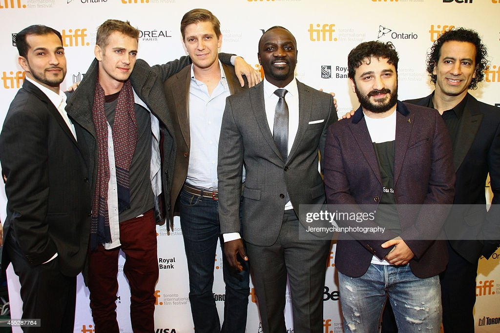 Executive Producer JoJo Ryder, actor Hayden Christensen, Producer Tove Christensen, actor/recording artist Aliaune Thiam aka Akon, Director Sarik Andreasyan, and Executive Producer Michael Wexler arrive at the 'American Heist' Premiere during the 2014 Toronto International Film Festival held at the Princess of Wales Theatre on September 11, 2014 in Toronto, Canada.