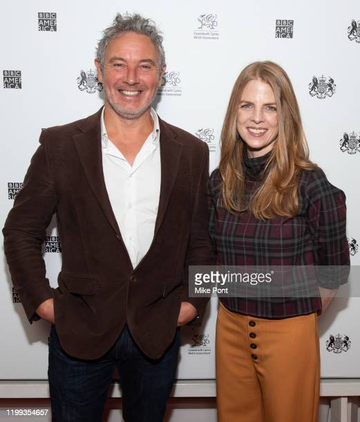 Executive Producer Jonny Keeling and The Hollywood Reporter's television editor moderator Marisa Guthrie attend the Seven Worlds One Planet Screening...