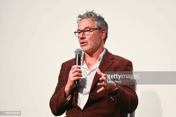 Executive Producer Jonny Keeling speaks during the Seven Worlds One Planet Screening at Crosby Hotel on January 13 2020 in New York City
