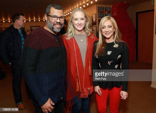 Executive Producer Jordan Peele and Head of Amazon Studios Jennifer Salke and Lorena Gallo attend the 'Lorena' Premiere during the 2019 Sundance Film...