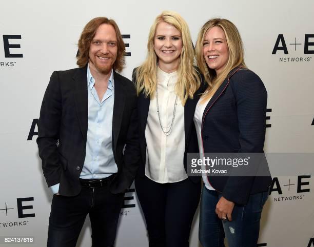 Executive producer Joseph Freed, narrator/producer Elizabeth Smart, and executive producer Allison Berkley of 'I Am Elizabeth Smart' at the A+E...