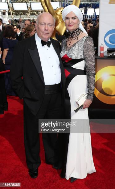 Executive producer Julian Fellowes and wife Emma Fellowes attend the 65th Annual Primetime Emmy Awards at the Nokia Theatre LA Live on September 22...