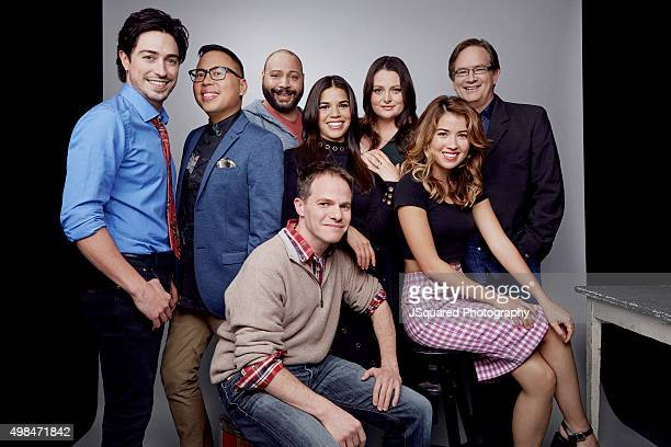 Executive producer Justin Spitzer and actors America Ferrera Nichole Bloom Mark McKinney Colton Dunn Lauren Ash Nico Santos and Ben Feldman of NBC's...