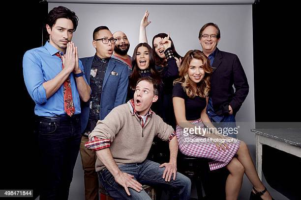 Executive producer Justin Spitzer and actors America Ferrera, Nichole Bloom, Mark McKinney, Colton Dunn, Lauren Ash, Nico Santos, and Ben Feldman of...
