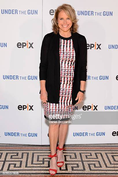 Executive Producer Katie Couric attends the Chicago premiere of 'Under the Gun' on May 5 2016 in Chicago Illinois