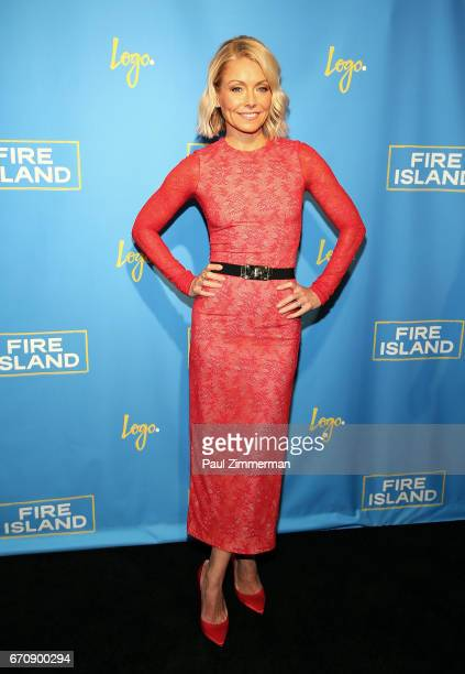 Executive producer Kelly Ripa attends the 'Fire Island' New York Premiere at Atlas Social Club on April 20 2017 in New York City