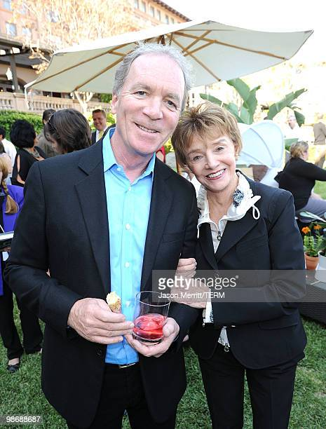 Executive producer Ken Corday ad actress Peggy McKay pose during the NBC Universal Summer Press Day Days Of Our Lives after party on April 26 2010 in...