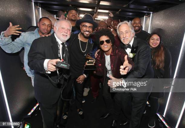 Executive producer Ken Ehrlich music producer Philip Lawrence Album of the Year winner Bruno Mars and the Recording Academy and MusiCares...