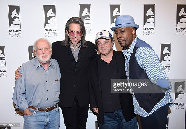 Executive producer Ken Ehrlich Vice President of the GRAMMY Foundation Scott Goldman writer David Hall and TV personality Arsenio Hall attend Reel to...