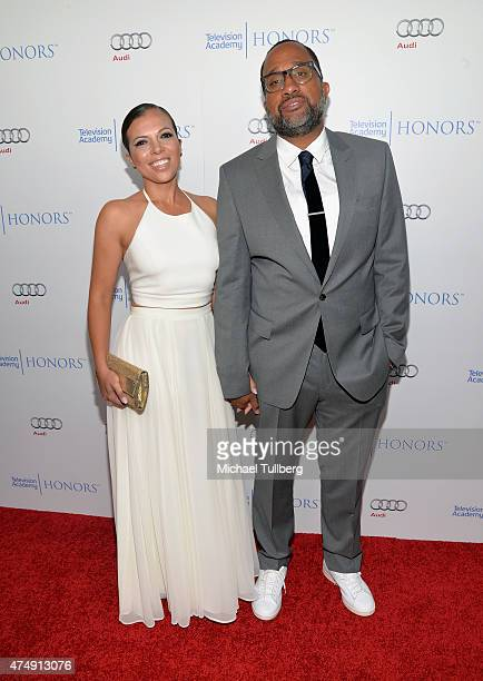 Executive Producer Kenya Barris and Dr Rainbow EdwardsBarris attend the 8th Annual Television Academy Honors at Montage Beverly Hills on May 27 2015...