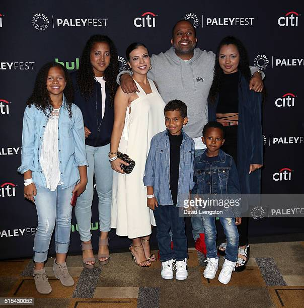 Executive producer Kenya Barris and wife Dr Rainbow EdwardsBarris attend The Paley Center For Media's 33rd Annual PaleyFest Los Angeles Blackish at...