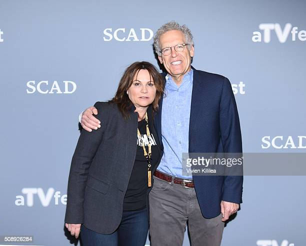 Executive Producer Kerry Ehrin and Executive Producer Carlton Cuse attend the Bates Motel event during aTVfest 2016 presented by SCAD on February 6...