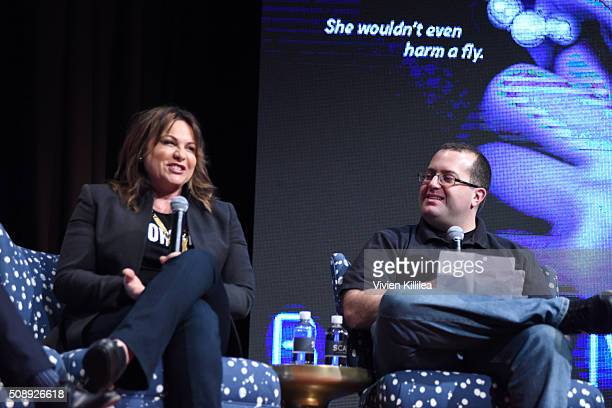 Executive Producer Kerry Ehrin speaks at the Bates Motel event during aTVfest 2016 presented by SCAD on February 6 2016 in Atlanta Georgia