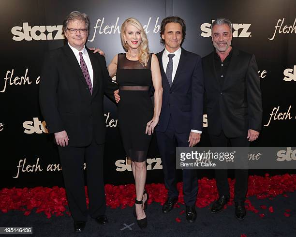 Executive producer Kevin Brown creator/executive producer Moira WalleyBeckett executive producers Lawrence Bender and John Melfi attend the 'Flesh...