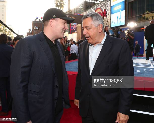 Executive Producer Kevin Feige and Tony Vinciquerra Chairman and CEO Sony Pictures Entertainment attend the premiere of Columbia Pictures' 'SpiderMan...