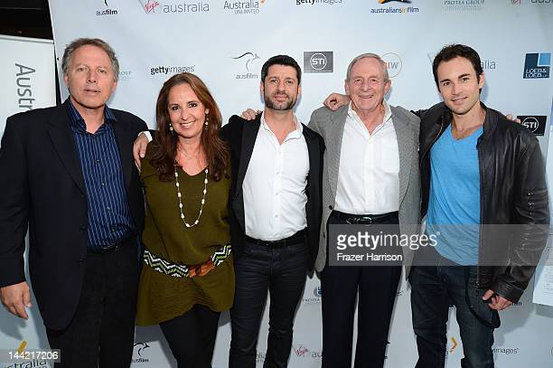 Executive Producer Kirk D'Amico Paula Paula Paizes chair of Australians in Film actor Harli Ames director Simon Wincer and Andrew Bongiorno arrive at...