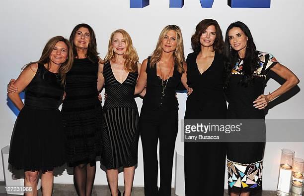 Executive Producer Kristin Hahn, Executive Producer Paula Wagner, actress Patricia Clarkson, Executive Producer and Director Jennifer Aniston,...