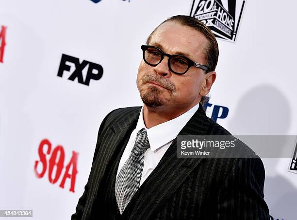 Executive producer Kurt Sutter arrives at the season 7 premiere screening of FX's 'Sons of Anarchy' at the Chinese Theatre on September 6 2014 in Los...