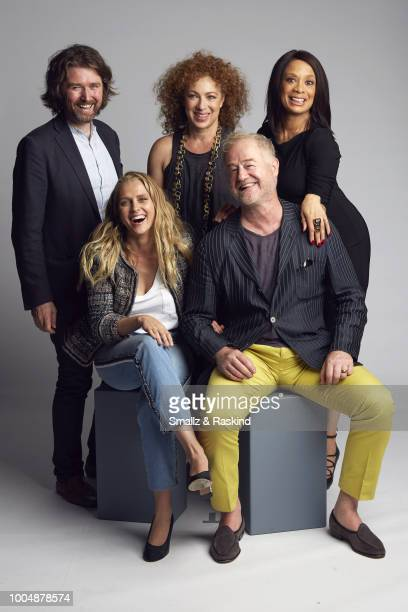 Executive Producer Lachlan MacKinnon Teresa Palmer Alex Kingston Owen Teale and Valarie Pettiford from Sky One's 'A Discovery of Witches' poses for a...