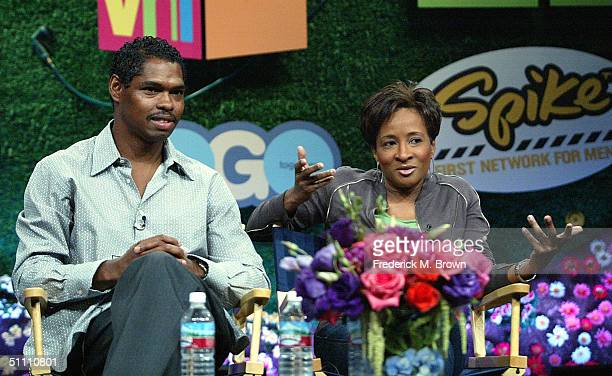 Executive Producer Lance Crouther and actress Creator and Executive Producer Wanda Sykes of I Can Do That speak with the press at the TCA Tour Cable...