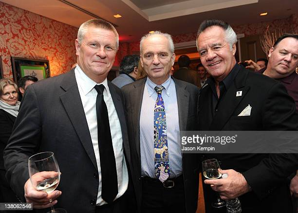 Executive producer Lasse Hallberg producer David Chase and actor Tony Sirico attend the North American Premiere Of 'Lilyhammer' a Netflix Original...
