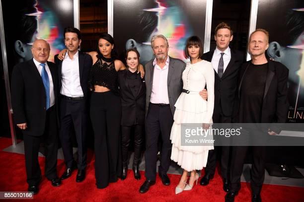 Executive producer Laurence Mark actors Diego Luna Kiersey Clemons Ellen Page executive producer Michael Douglas actors Nina Dobrev James Norton and...