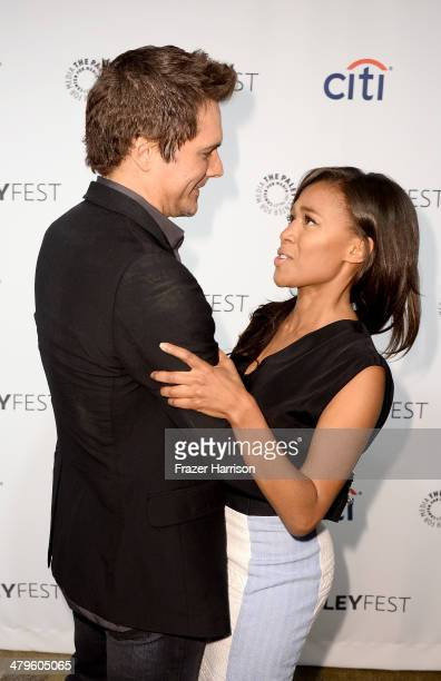 Executive Producer Len Wiseman and actress Nicole Beharie arrive at The Paley Center for Media's PaleyFest 2014 Honoring Sleepy Hollow at Dolby...