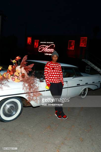 "Executive Producer Lena Waithe attends Amazon Studios' ""Them"" Drive-in Special Screening on April 08, 2021 in Compton, California."