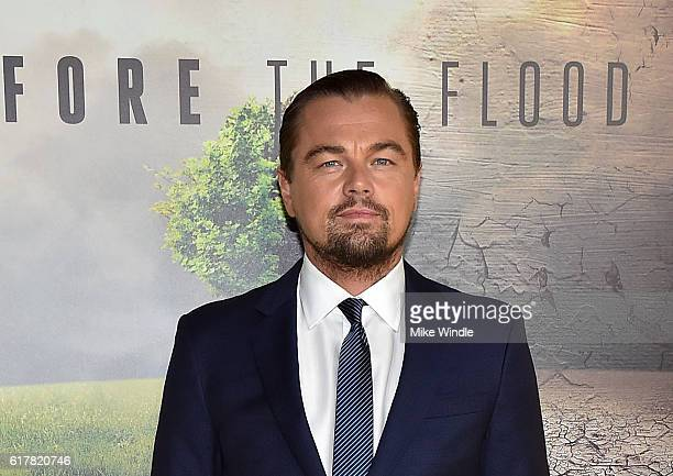Executive producer Leonardo DiCaprio attends the screening of National Geographic Channel's Before The Flood at Bing Theater At LACMA on October 24...