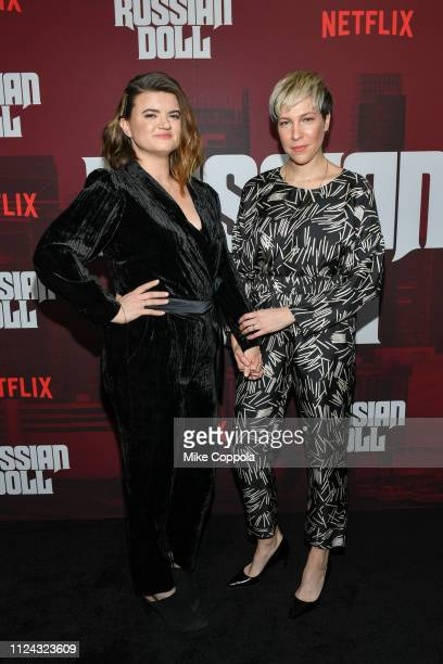 """Executive Producer Leslye Headland and actress Rebecca Henderson attends Netflix's """"Russian Doll"""" Season 1 Premiere at Metrograph on January 23, 2019..."""