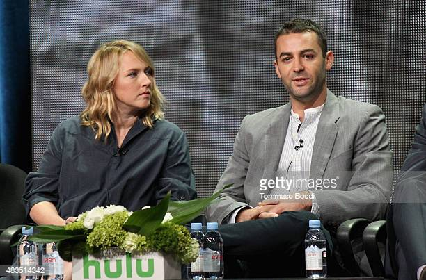 Executive Producer Liz Tigelaar and Executive Producer Zander Lehmann speak onstage during the Casual panel at the Hulu 2015 Summer TCA Presentation...