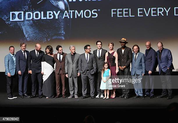Executive producer Louis D'Esposito actors Martin Donovan Corey Stoll Evangeline Lilly Paul Rudd Michael Douglas Michael Pena David Dastmalchian Abby...