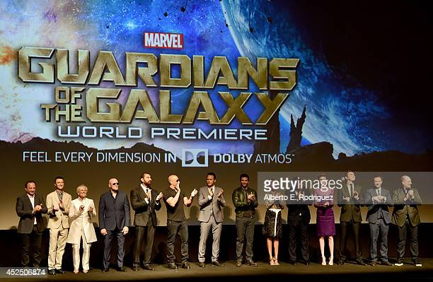 Executive producer Louis D'Esposito actors Sean Gunn Glenn Close Michael Rooker Dave Bautista Vin Diesel Chris Pratt Bradley Cooper Zoe Saldana...