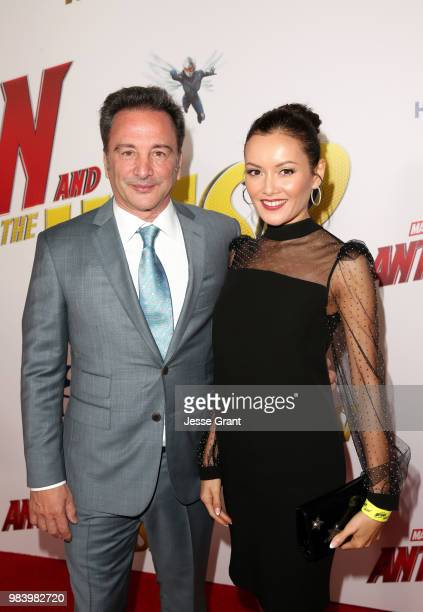 Executive producer Louis D'Esposito and guest attends the Los Angeles Global Premiere for Marvel Studios' 'AntMan And The Wasp' at the El Capitan...