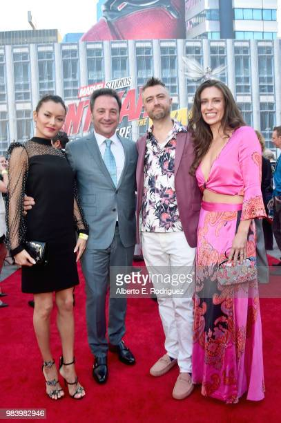 Executive Producer Louis D'Esposito Sean Gunn and Natasha Halevi attend the Los Angeles Global Premiere for Marvel Studios' 'AntMan And The Wasp' at...