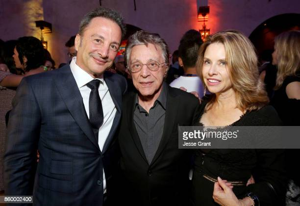 Executive producer Louis D'Esposito singer Frankie Valli and guest at The World Premiere of Marvel Studios' Thor Ragnarok at the El Capitan Theatre...