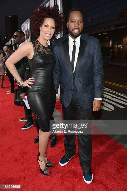 Executive producer Lyn Talbert and director/writer David E Talbert attend the premiere of Fox Searchlight Pictures' Baggage Claim at Regal Cinemas LA...