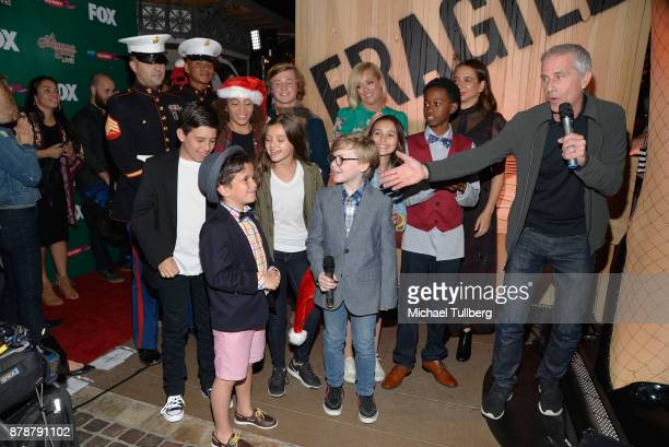 executive producer marc platt and the cast of a christmas story live attend foxs