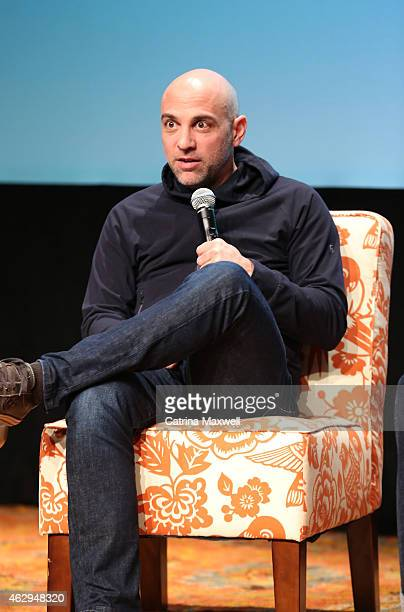 Executive producer Marcos Siega speaks on a panel following the Primetime Series Screening FOX presents 'The Following' during aTVfest presented by...