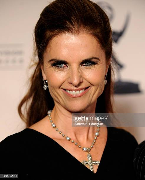 Executive producer Maria Shriver arrives at the Academy of Television Arts Sciences' 3rd Annual Academy Honors at the Beverly Hills Hotel on May 5...
