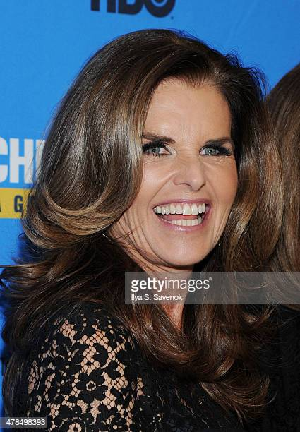 """Executive Producer Maria Shriver attends """"Paycheck To Paycheck: The Life And Times Of Katrina Gilbert"""" New York Premiere at HBO Theater on March 13,..."""