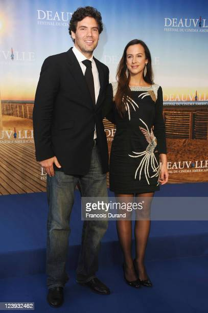 Executive producer Marianne Michallet and director Matthew Gordon pose at 'The Dynamiter' photocall during the 37th Deauville American Film Festival...