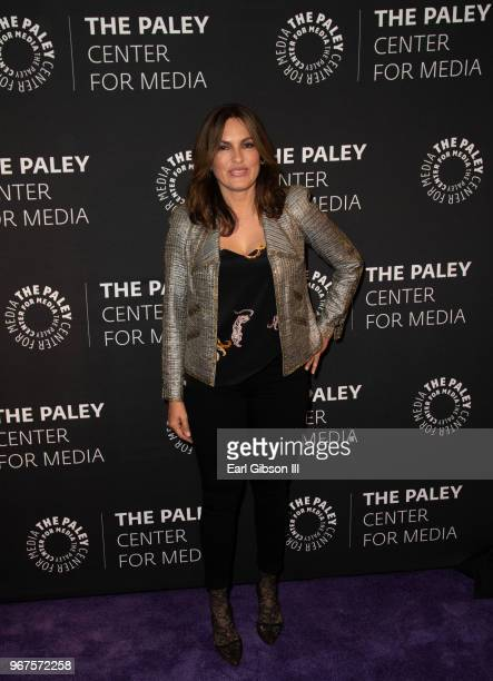 Executive Producer Mariska Hargitay attends The Paley Center For Media Presents Creating Great Characters Dick Wolf Mariska Hargitay at The Paley...