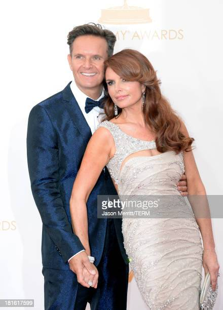 Executive Producer Mark Burnett and actress Roma Downey arrives at the 65th Annual Primetime Emmy Awards held at Nokia Theatre LA Live on September...